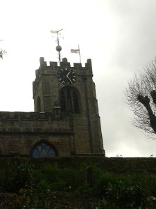 DISLEY CHURCH FLYING FLAG MAY 2015